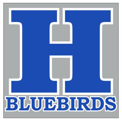 H Bluebirds Window Cling Decal